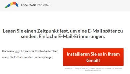 Boomerang for Gmail - Erweiterung für Browser und Android