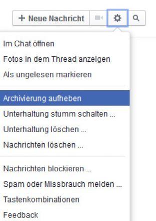 Einen Chat-Verlauf bei Facebook rekonstruieren