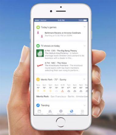 Modifizierter Benachrichtigungsbereich für die Facebook-Apps