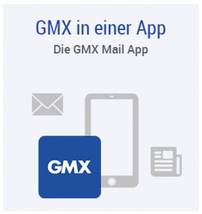 Über die GMX Mail App nun Mails aller Anbieter empfangbar