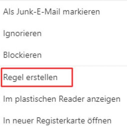 Outlook.com: Regeln erstellen