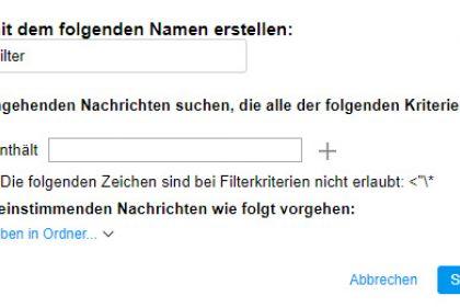 Einrichten von Filtern in AOL Mail