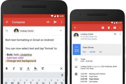 Gmail für Android: Rich Text-Formatierung