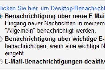 Gmail Benachrichtigungen – Ja/Nein?