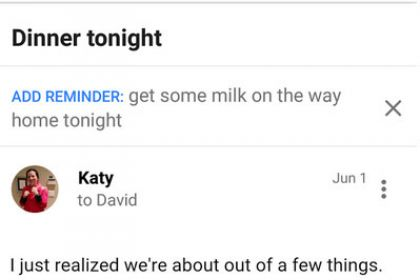 Gmail, Inbox Erinnerung