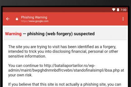 Gmail warnt nun auch iOS Nutzer vor Phishing