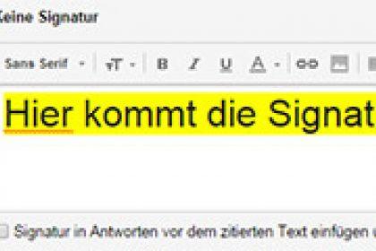 Signatur einrichten bei Gmail