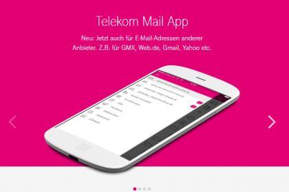 Der E-Mail Client von Telekom