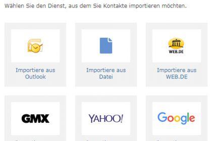 E-Mail-Kontakte in WEB.DE Mail importieren - so klappt's